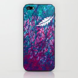 Floating Feather iPhone Skin