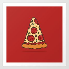 Zen Pizza Art Print