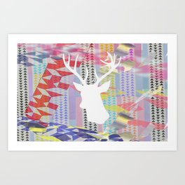 Deer'n pop Art Print