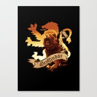 gryffindor Canvas Prints featuring Gryffindor by Markusian
