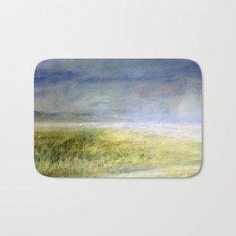 Sea Shore Watercolor Ocean Landscape Nature Art Bath Mat