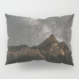 Milky Way Over Mountains - Landscape Photography Pillow Sham