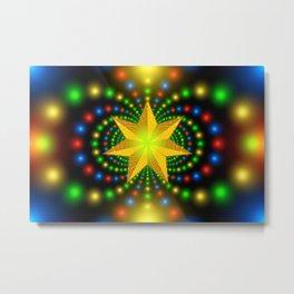 christmas star fractal symmetry Metal Print