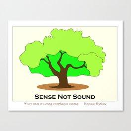 Oak Tree Flag Canvas Print
