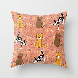 Dog Moods Throw Pillow