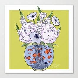 Goldfish Flowers Canvas Print