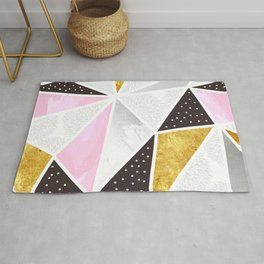 Abstract triangle textures Rug