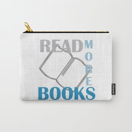 READ MORE BOOKS in blue Carry-All Pouch