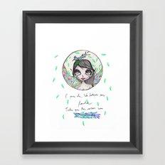 Não bastava ser Fada... Framed Art Print