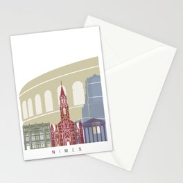 Nimes skyline poster Stationery Cards