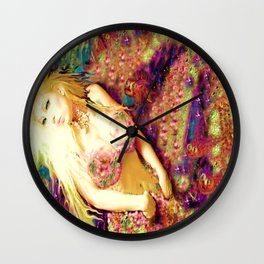 sexy loving nude mermaid ladykashmir Wall Clock