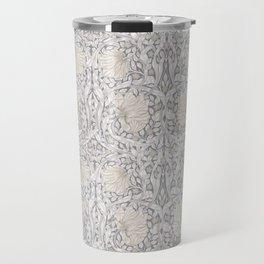 William Morris Vintage Pimpernel Linen Cloud Grey Travel Mug