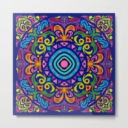 2018 Mandala #4 – Notebooks & more Metal Print