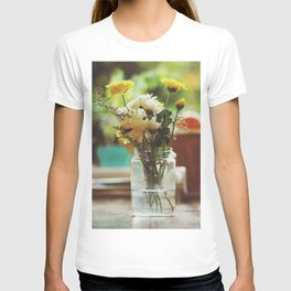 Flowers and oranges T-shirt