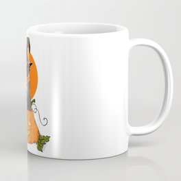 Witch Cat on Pumpkin Head Coffee Mug