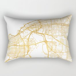CLEVELAND OHIO CITY STREET MAP ART Rectangular Pillow