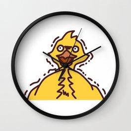 Scared Chocobo Wall Clock