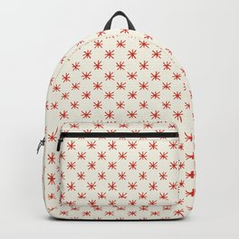 simple red star pattern Backpack