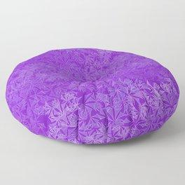 Shattered Geometric Purples Floor Pillow