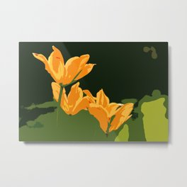 Orange Tulips Metal Print