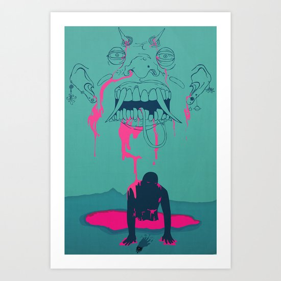 I. From the Ether, Beholden to the One Handed Man Art Print