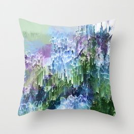 Wild Nature Glitch - Blue, Green, Ultra Violet #nature #homedecor Throw Pillow