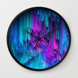 Neon Drifting - Pixel Art Wall Clock