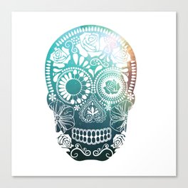 Mexican Skull / teal Canvas Print