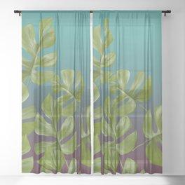 Monstera LEAFS Sheer Curtain