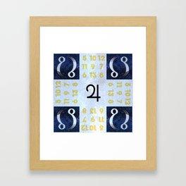 Magic Jupiter Rebel Square Invocation Framed Art Print