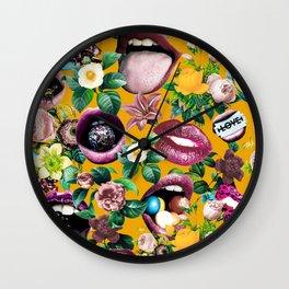 Sexy Floral Garden Wall Clock