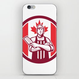 Canadian Butcher Front Canada Flag Icon iPhone Skin