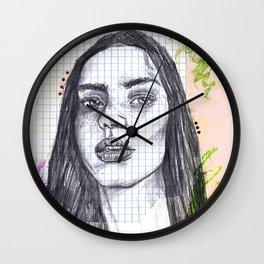 Mixed Media Sketch Wall Clock