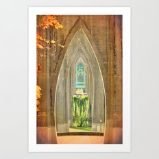 CATHEDRAL ARCHES Art Print