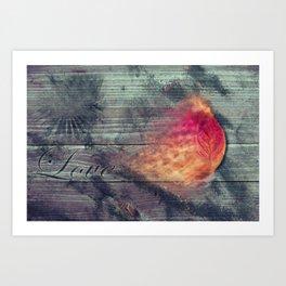 Flaming Leaf Art Print