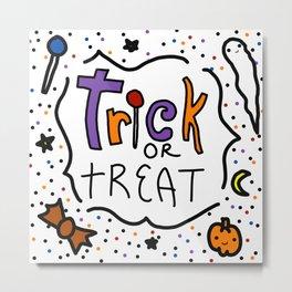 Trick or Treat Halloween | Veronica Nagorny Metal Print