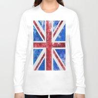 union jack Long Sleeve T-shirts featuring Union Jack by LebensART