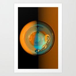 light, glass and colors -1- Art Print