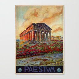 Paestum ancient Greek temple Canvas Print