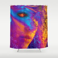 mask Shower Curtains featuring Mask by Stephen Linhart