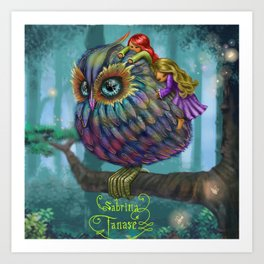 Sweetness of the Owl Art Print