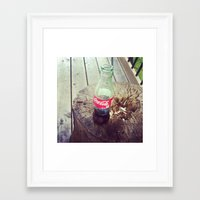 coke Framed Art Prints featuring Coke by vinny