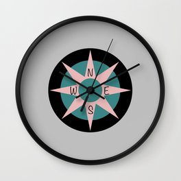 Compass of Color Wall Clock