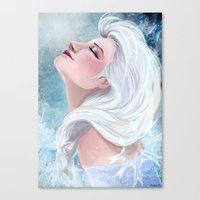 elsa Canvas Prints featuring Elsa by Ines92