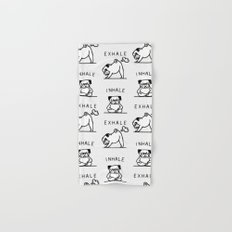 Inhale Exhale Pug Hand & Bath Towel