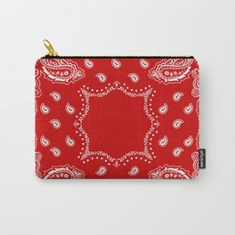 Bandana in Red & White Carry-All Pouch