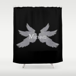 Archangel Michael with Wings Shower Curtain