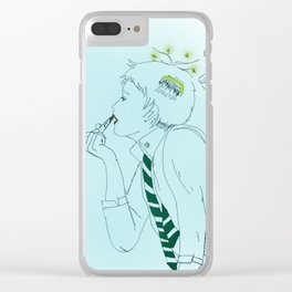 Non Binary Draco Malfoy Clear iPhone Case