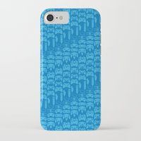 video game iPhone & iPod Cases featuring Video Game Controllers - Blue by C.Rhodes Design