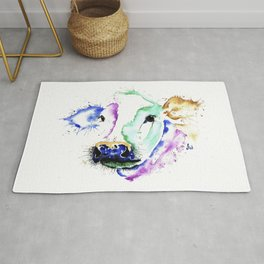Colourful Cow Rug